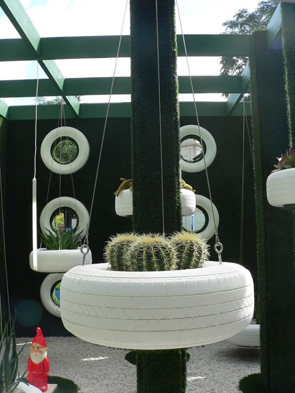 Tire Hanging Planters