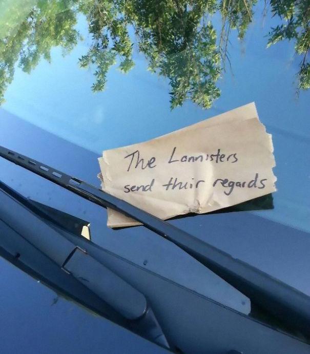 I Have A House Stark Sigil Sticker On The Back Of My Car