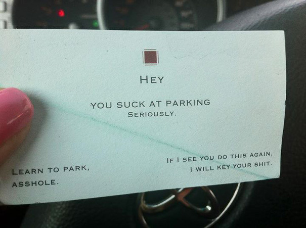 My Friend Found This On Her Windshield Earlier