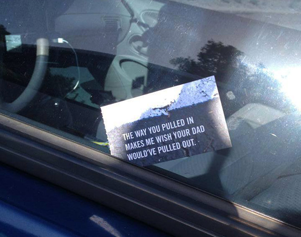 The Perfect Flyers For Bad Parking Douchebaggery