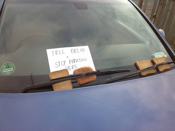 Some Acquaintances Of Mine Had An Interesting Method Of Deterring Bad Parking