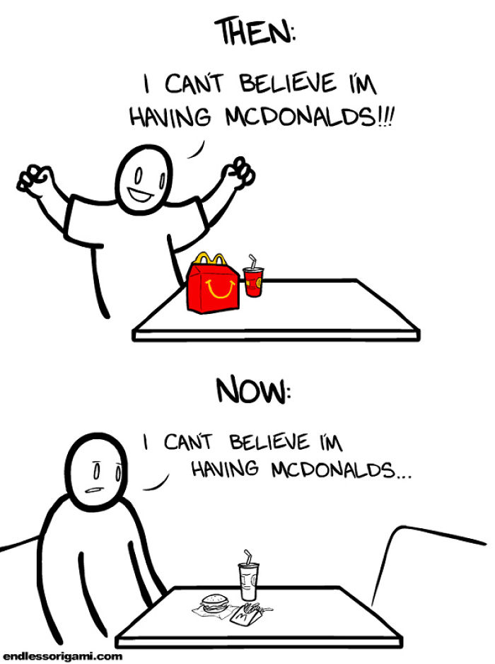 Going To Mcdonalds Then And Now