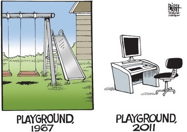 Playground Then And Now