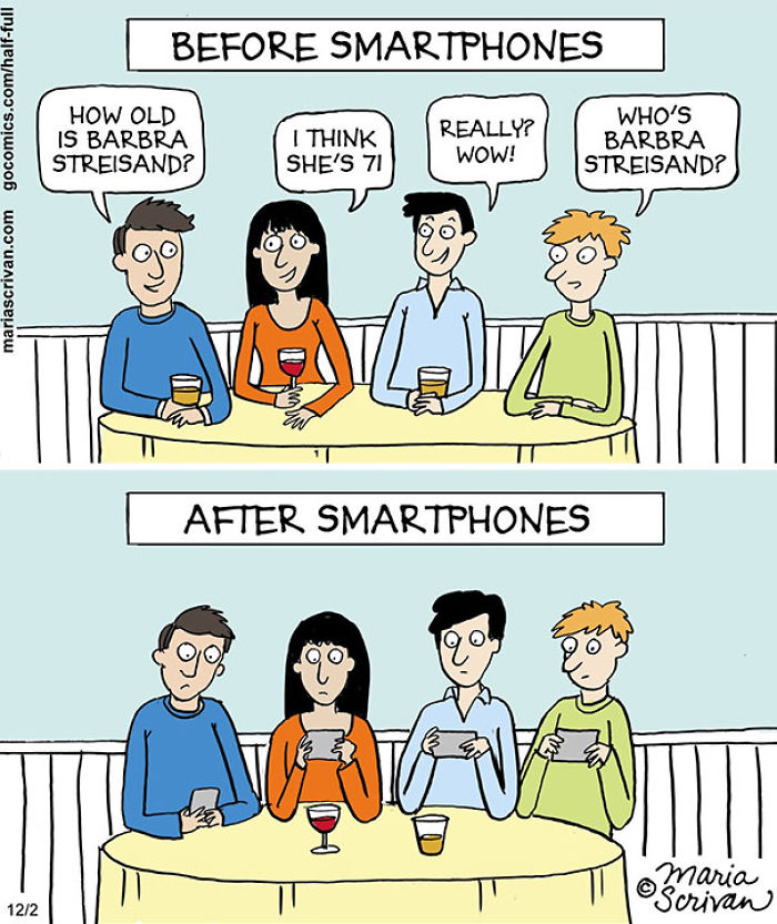 Before And After Smartphones