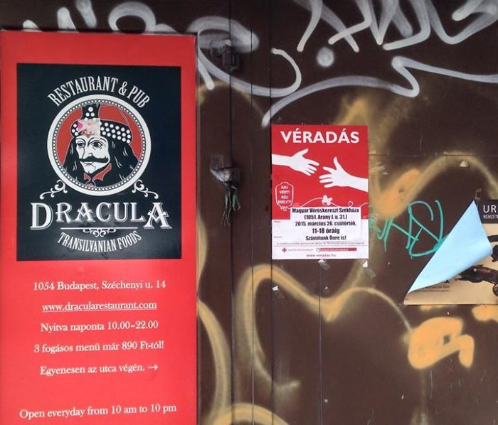Dracula Restaurant Vs. Red Cross Call For Blood Donations