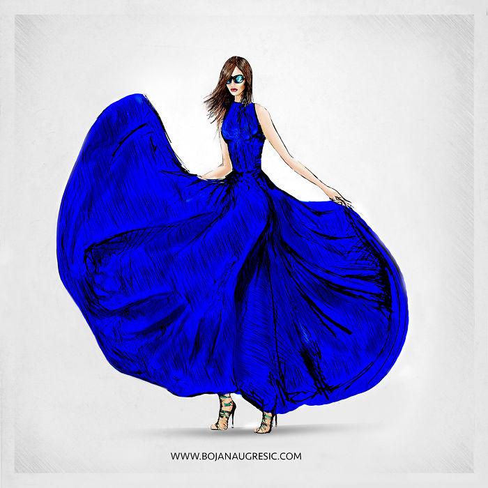 Blue / Dress Design