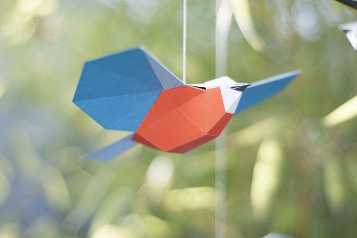 A DIY Songbird Mobilé Made Of Paper