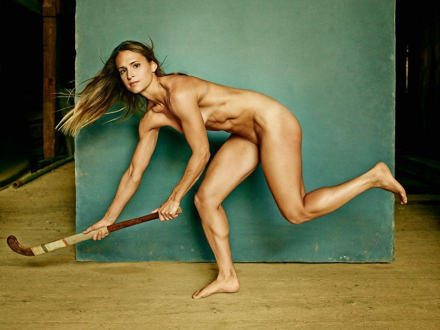 Nude Female Hockey Player 36