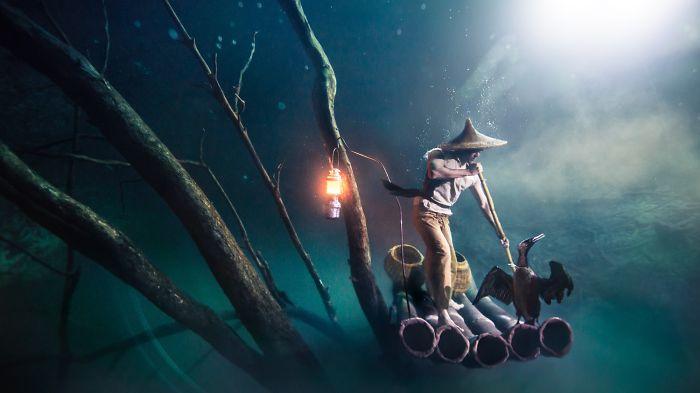 Erm, Freediving In Toxic Water?! – Ballantine's Presents Benjamin Von Wong's Underwater River