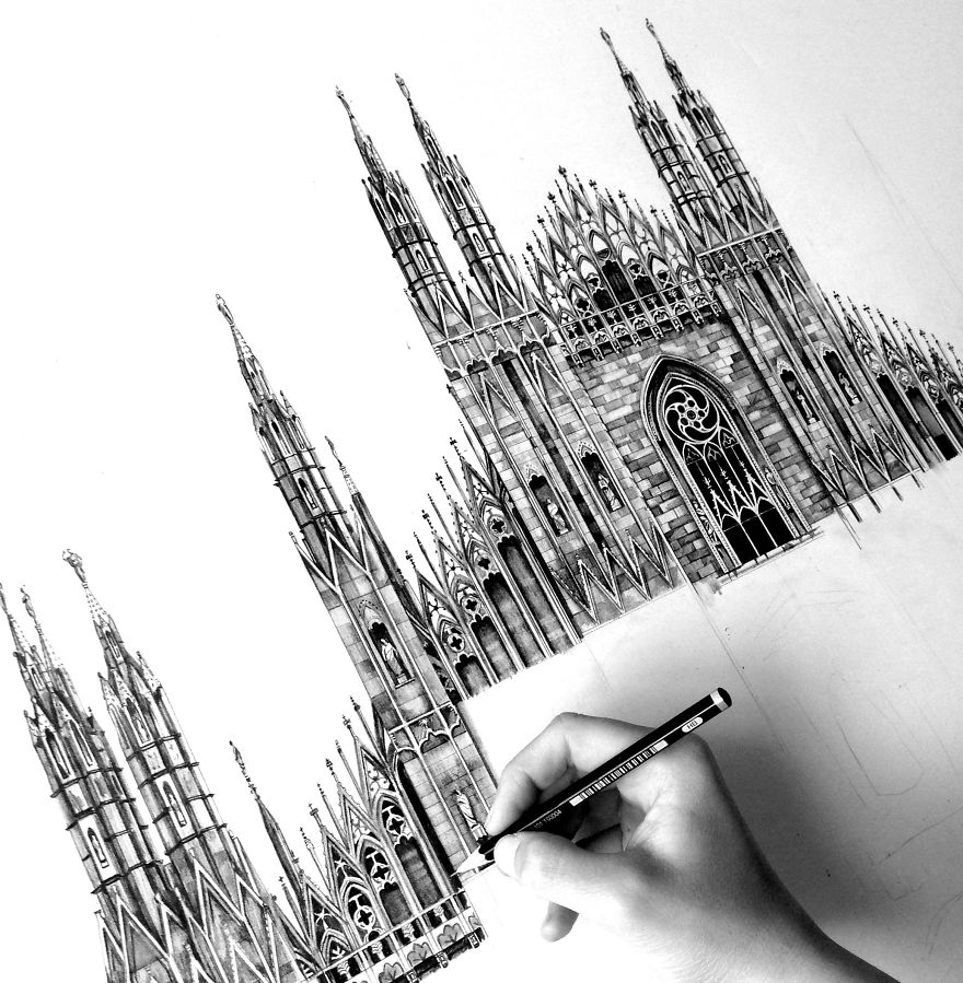 Architecture Buildings Drawings A On Decorating