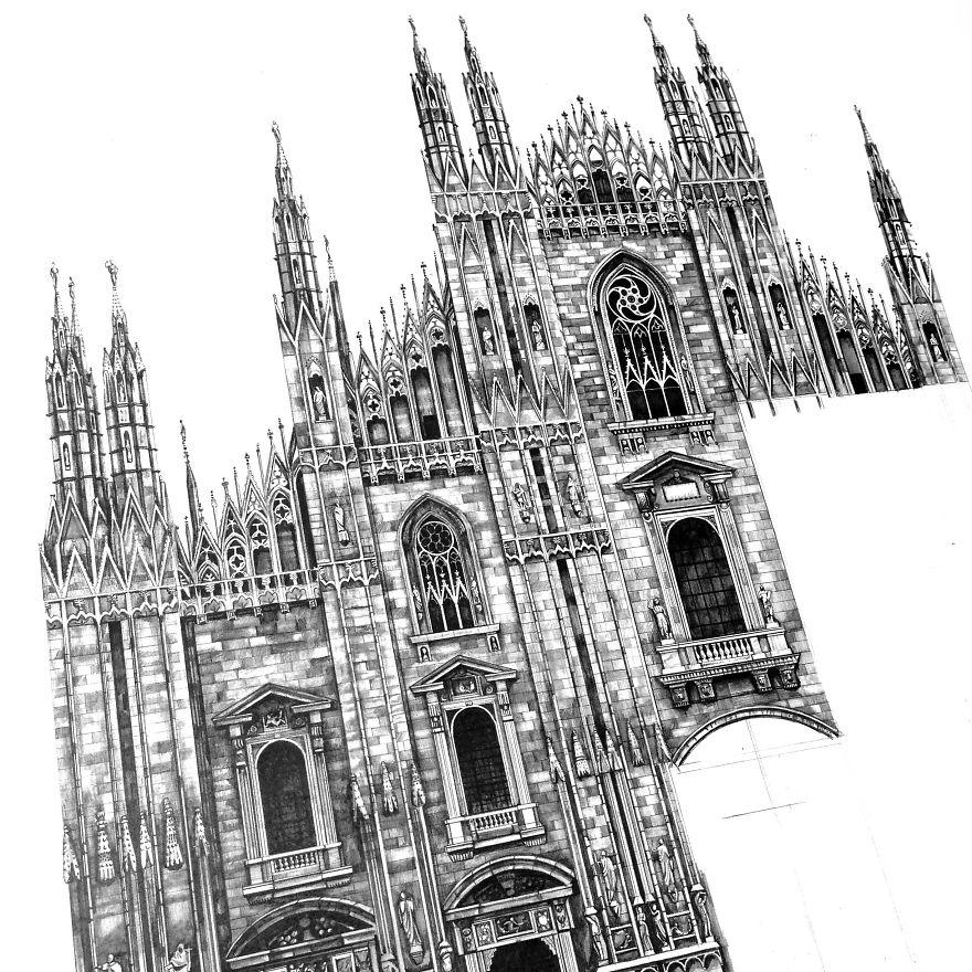 Drawings Of Buildings Related Keywords Suggestions Pencil Drawings