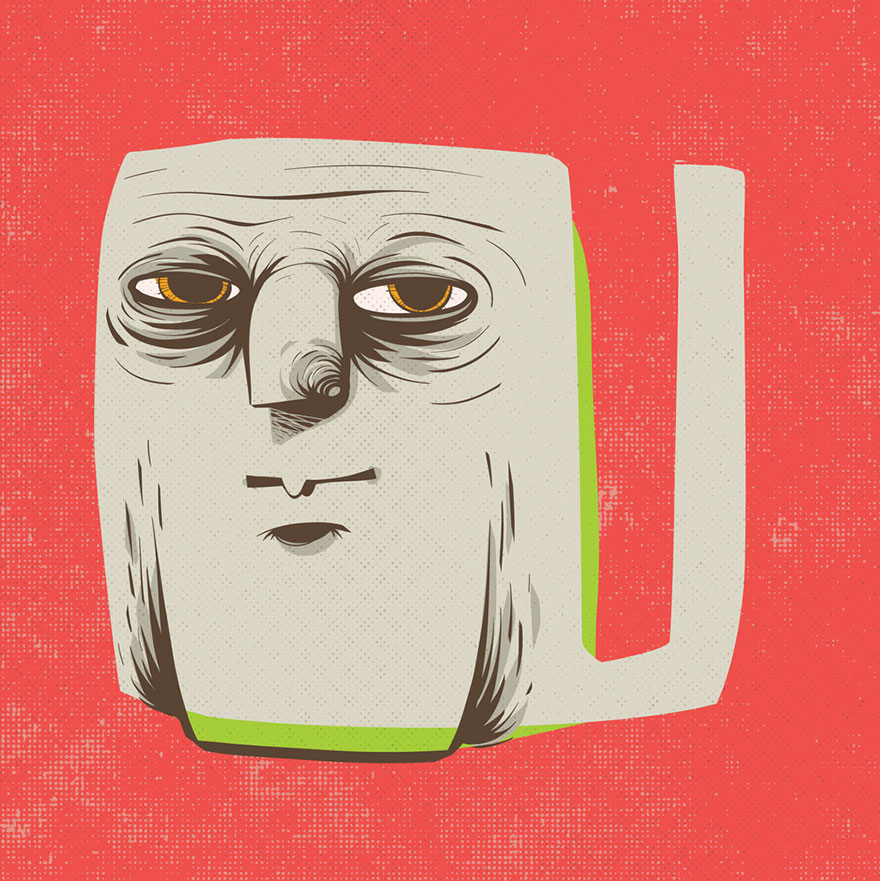 Letters Turned Into Faces With Beautiful Typography