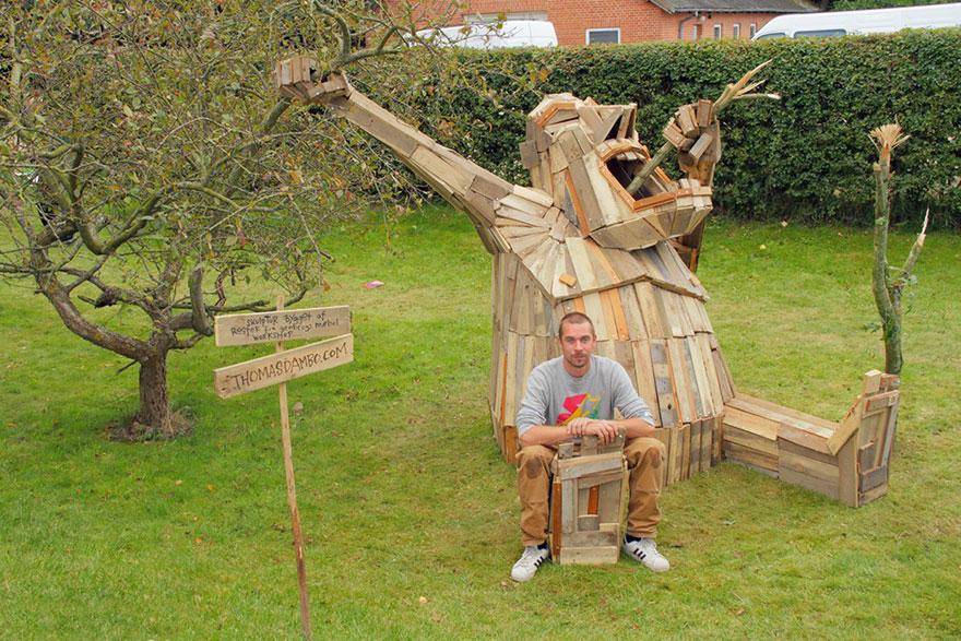 Fuck my statue wood - 1 3
