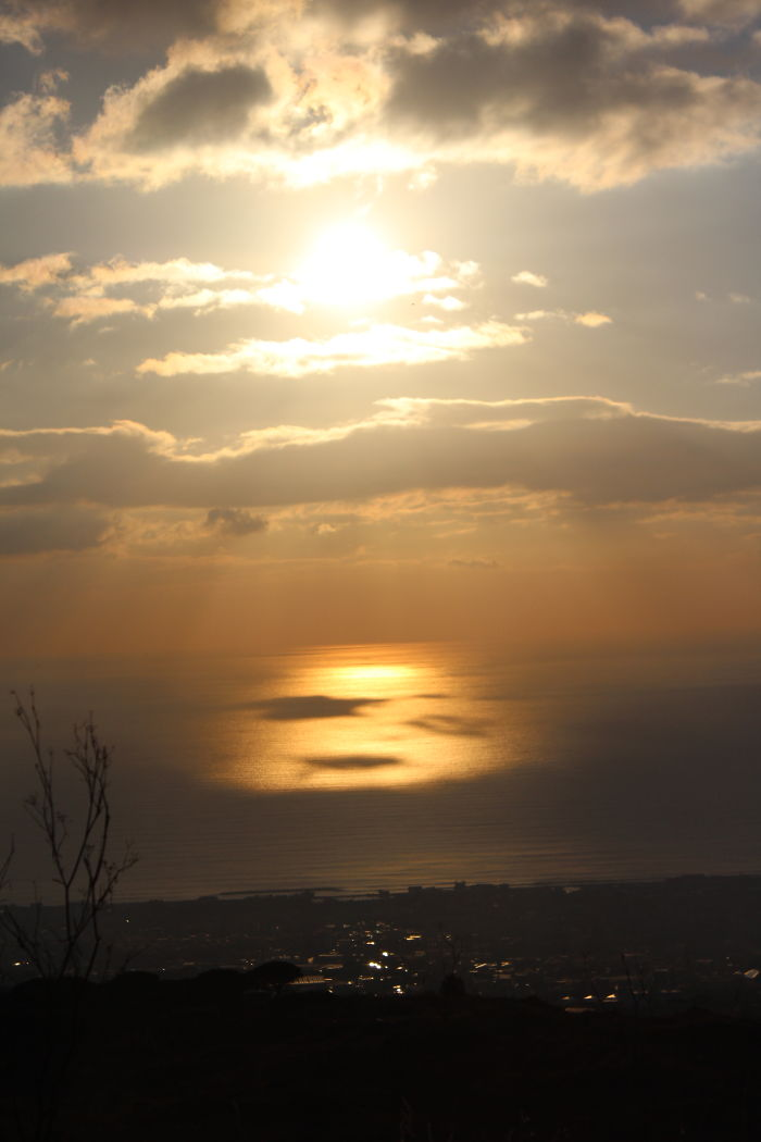 Projection Of The Sun From Top Of Volcano Vesuvius