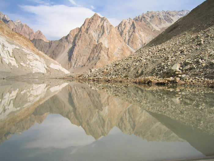 Perfect Reflection In The Glacier Pool, Northern Pakistan