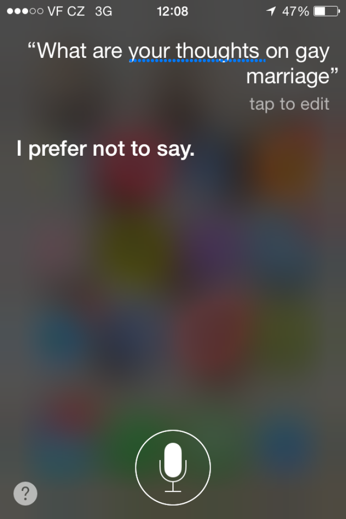 I Think Siri's Opinion Of Gay Marriage Is Pretty Clear…