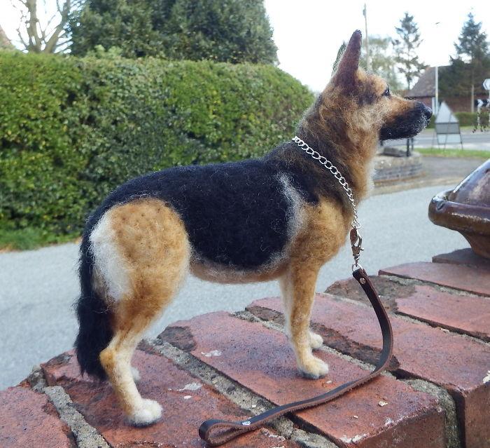 My Ultra Realistic Needle Felted German Shepherd Dogs