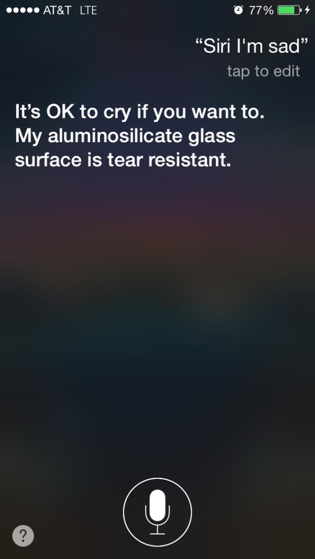 Siri, I'm Sad.