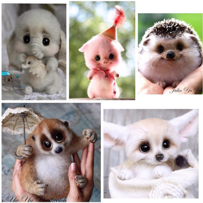Russian Designer Makes Unbelievably Cute Animals From Wool And Mohair
