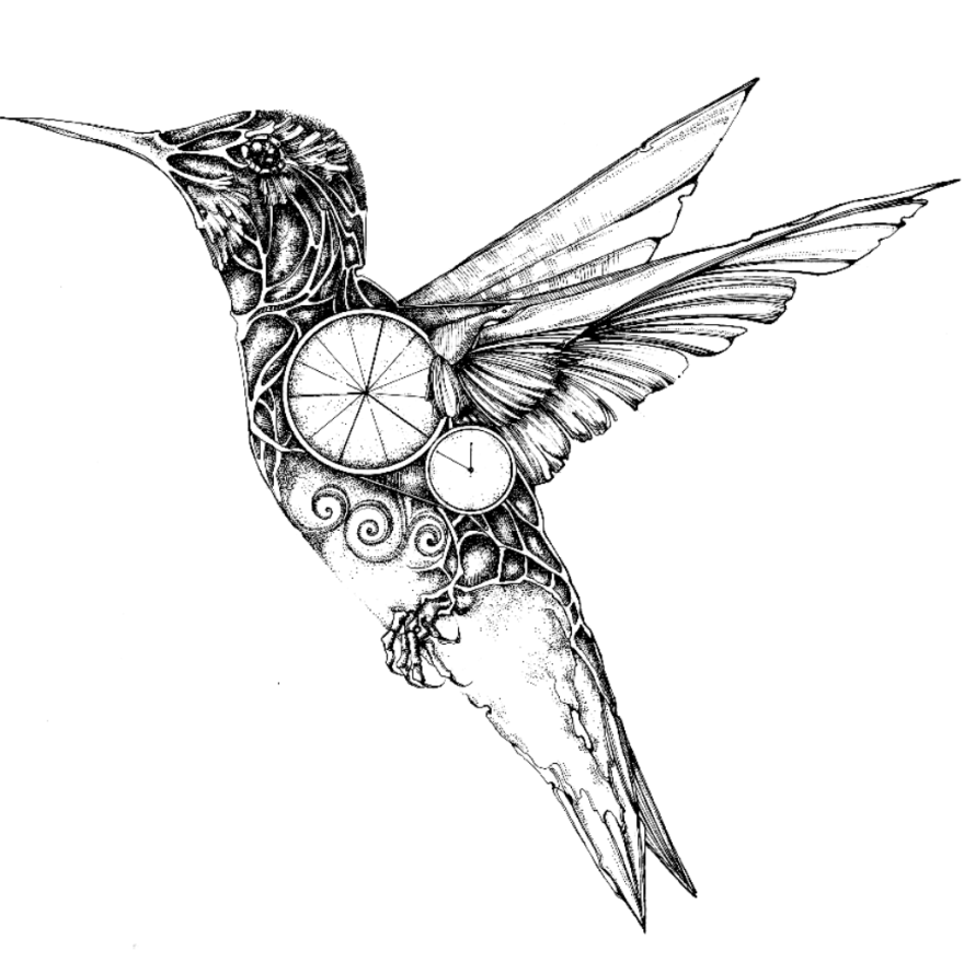 Line Art Quail : My mechanical birds drawn with ink bored panda