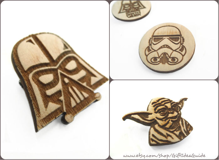 The Force Awakens…star Wars Brooches ♥
