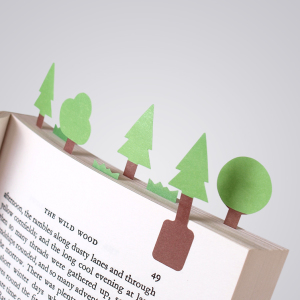 Tiny Paper Bookmarks Let You Grow Charming Miniature Worlds In Your Books
