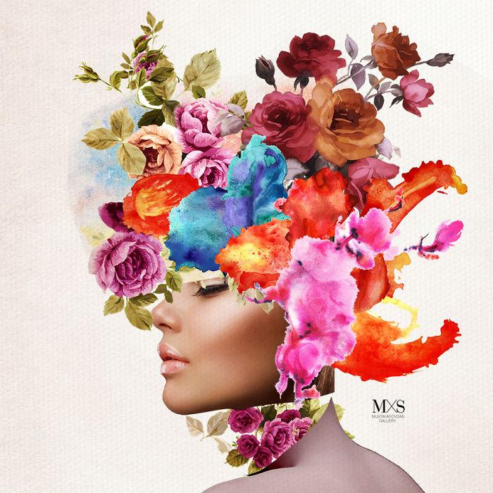 I Create Colorful Fashion Collages