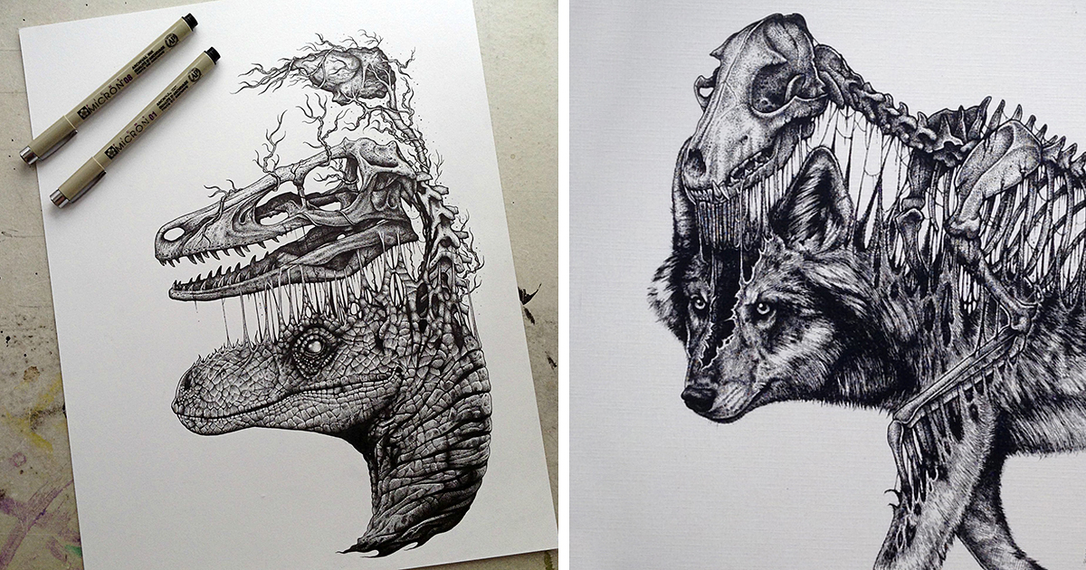 Black And White Animal Artwork