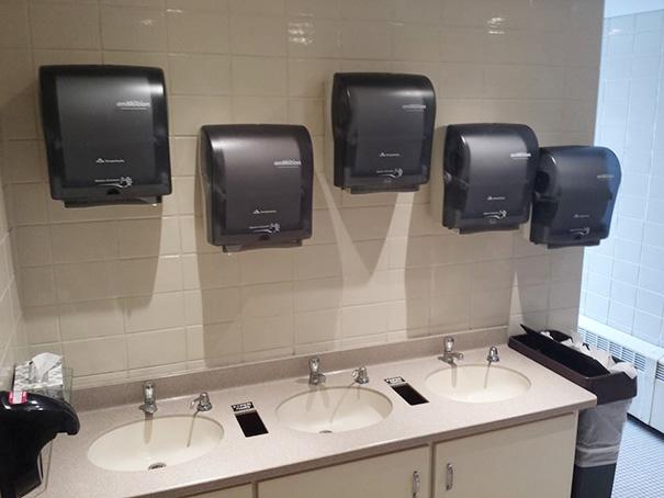 We Have 3 Sinks... We Need 5 Paper Towel Holders
