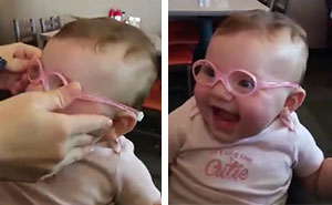 Baby Girl Sees Mom And Dad Clearly For First Time And Her Reaction Is Priceless