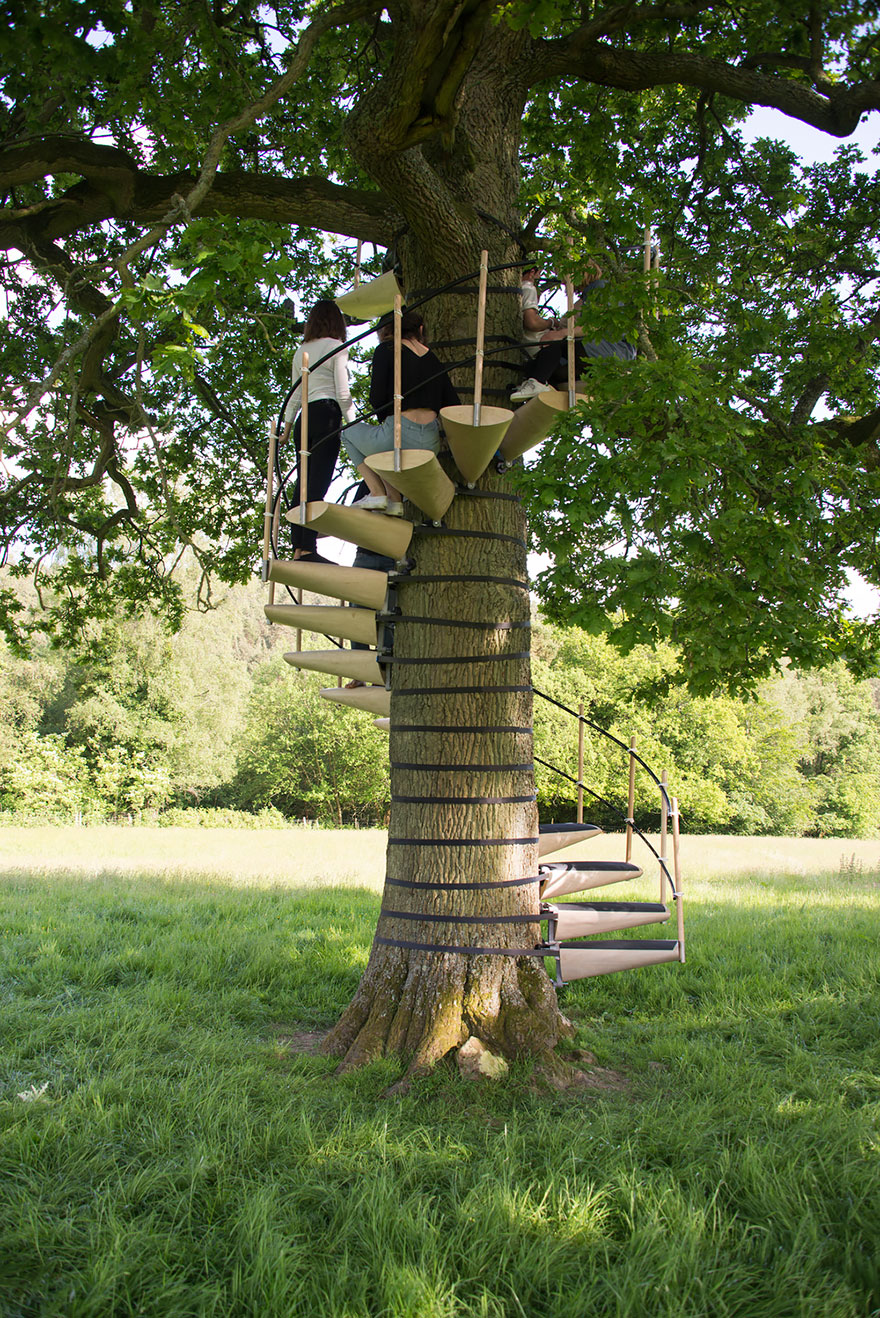 canopy-tree-stairs-thor-ter-kulve-robert-mcintyre- & You Can Strap This Spiral Staircase Onto Any Tree Without Tools ...