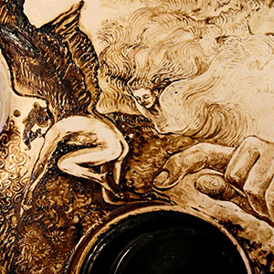 Art From A Mistake: My Oven-Top Coffee Paintings