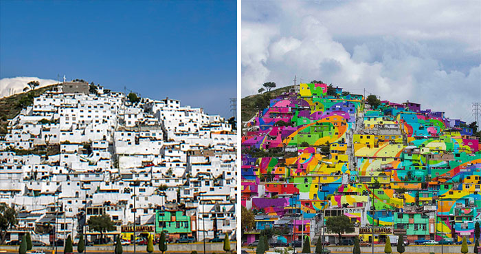 Mexican Government Asked Street Artists To Paint 200 Houses To Unite Community