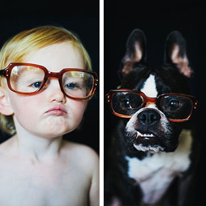 I Photograph My Daughter And Dog In The Same Settings