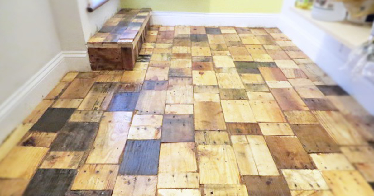 - Our DIY Pallet-Wood Floor Cost Only $100 Bored Panda