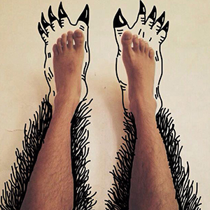 I Add Weird Illustrations To Photos Of My Friends' Feet