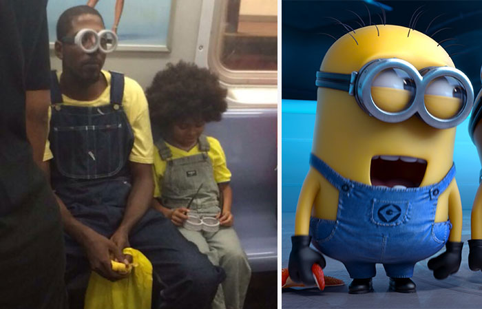 Dad Takes His Son To See 'The Minions' While Dressed In Full Costume Himself