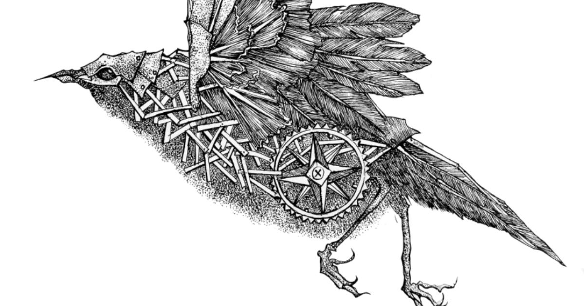 My Mechanical Birds Drawn With Ink