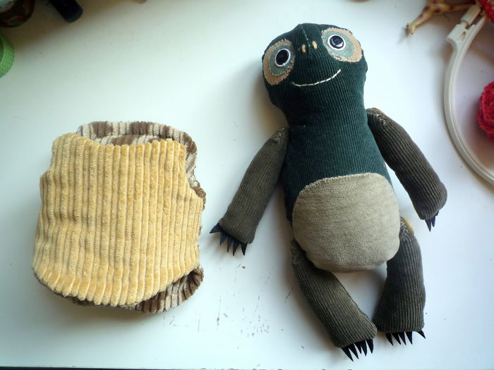 I Made A Turtle Art Doll   With Removable Shell  From Recycled Materials