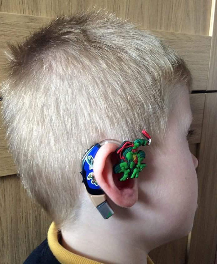 Mom Turns Her Son's Hearing Aids Into Superheroes So He Would Feel Cool Wearing Them
