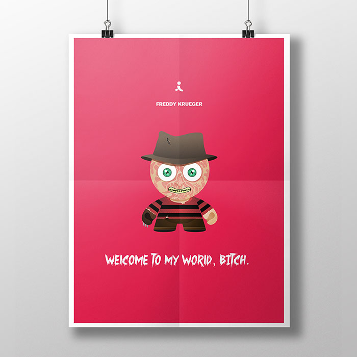 Iconic Characters And Their Quotes Illustrated In Minimalist Posters