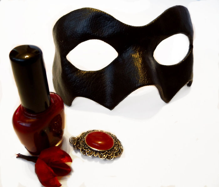 Mysterious Venetian Black Mask