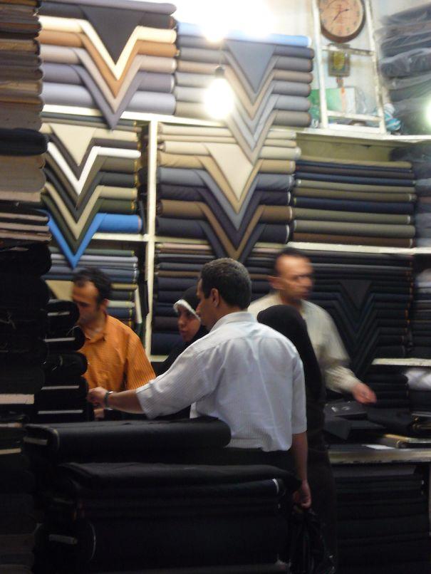 Textile Shop On The Old Bazar In Tehran