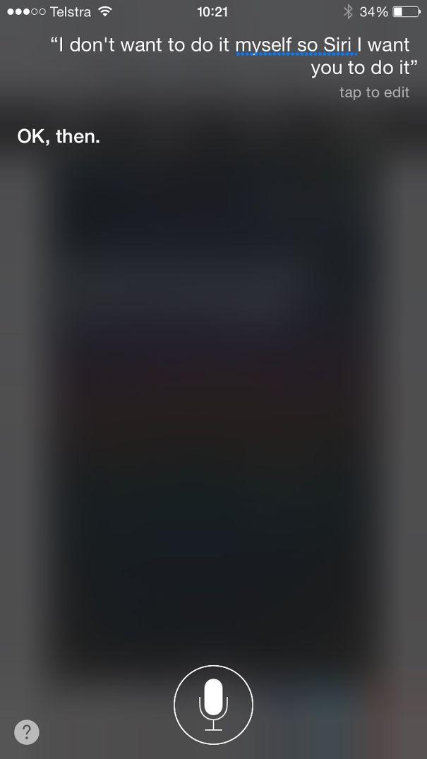 Siri Is Dismissive