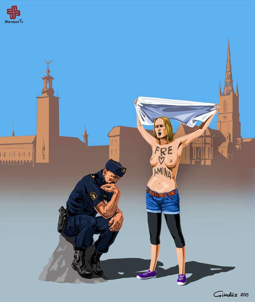 illustrations of police