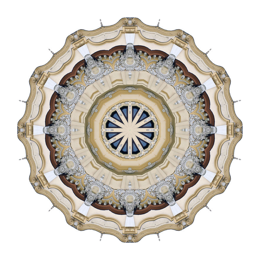 My Photos Of Buildings Turned Into Mesmerizing Kaleidoscopic Images