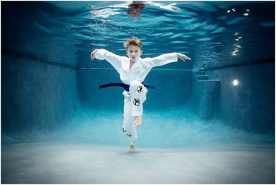 I Photograph Kids Playing Their Favorite Sports Underwater