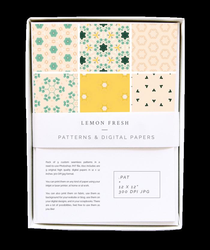 Lemon Fresh Patterns & Digital Papers