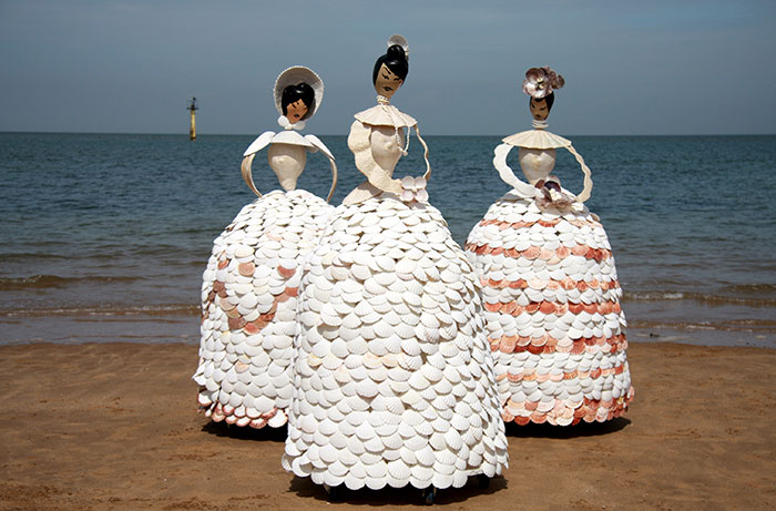 I Made Twelve Life-Sized Ladies From Real Shells
