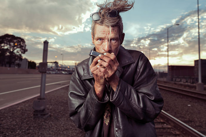 Photographer Shows Homeless In A New Light To Remind Us They're People Too